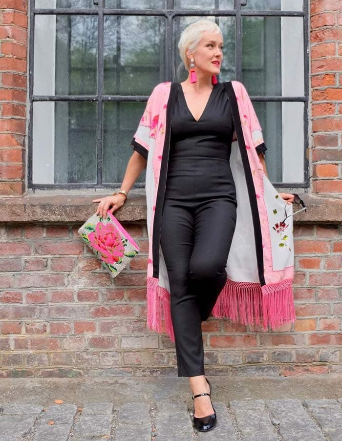 combining black and pink for the glamorous style personality   40plusstyle.com