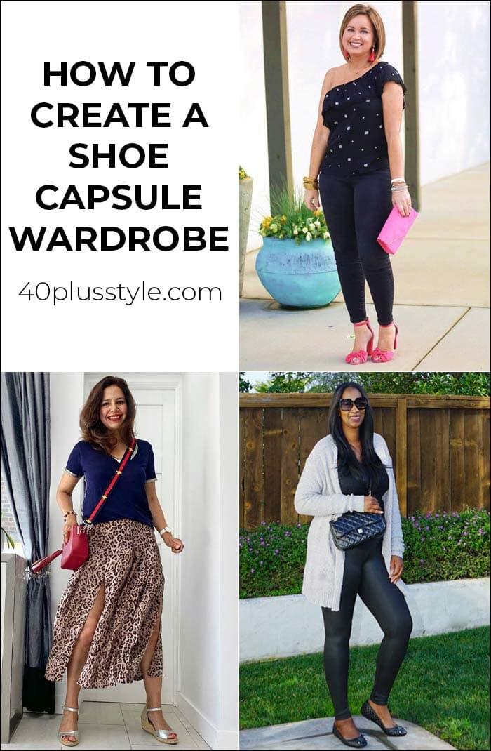 How to create a shoe capsule wardrobe: 10 types of shoes every woman needs to own | 40plusstyle.com