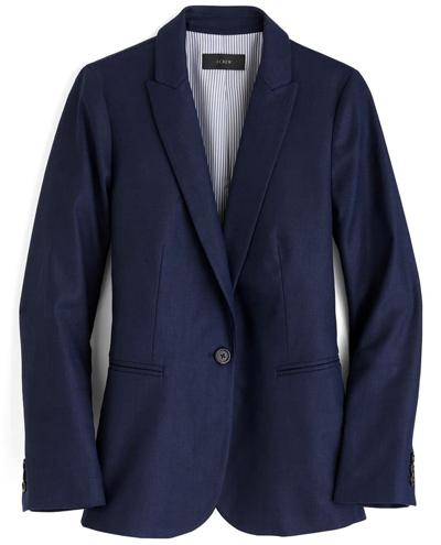 J.Crew linen blend blazer | 40PLUSSTYLE.COM