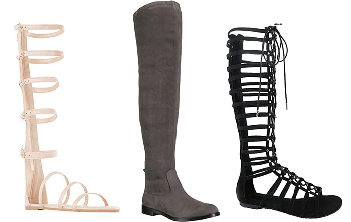 How to wear flat shoes - knee high flats | 40plusstyle.com