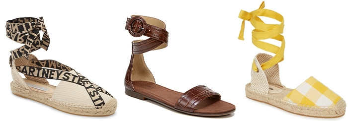 How to wear flat shoes - above the ankle flats | 40plusstyle.com