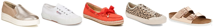a casual shoe capsule | 40plusstyle.com