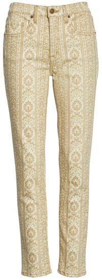 How to wear printed pants - Nili Lotan crop skinny jeans   40plusstyle.com
