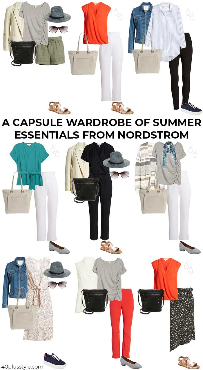 A capsule of summer essentials from Nordstrom | 40plusstyle.com
