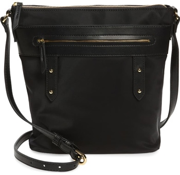 Nordstrom nylon crossbody bag | 40plusstyle.com
