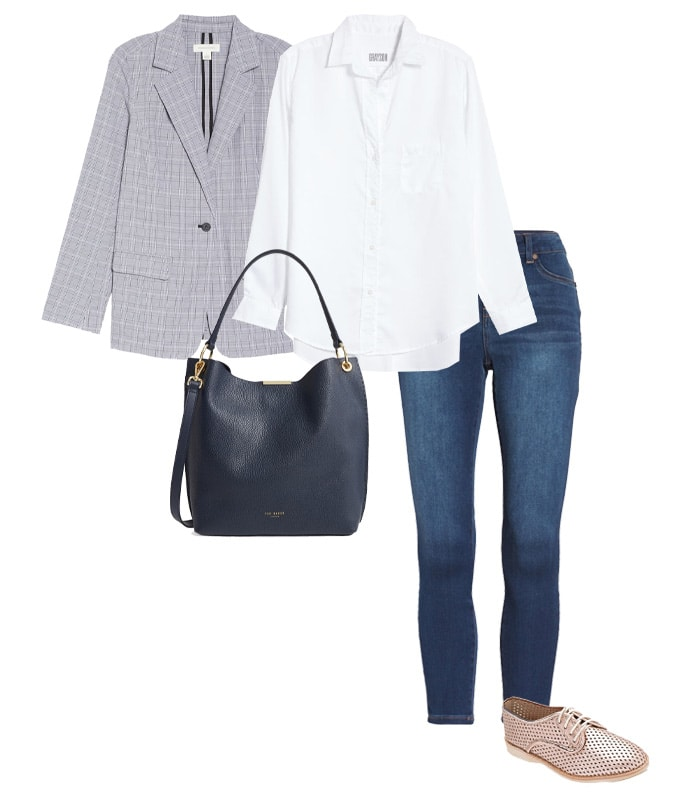 flat oxfords outfit | 40plusstyle.com