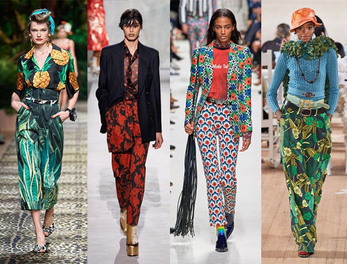 how to wear printed pants - designer inspiration   40plusstyle.com