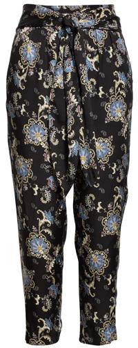Rebecca Taylor paisley fleur silk blend pants   40plusstyle.com