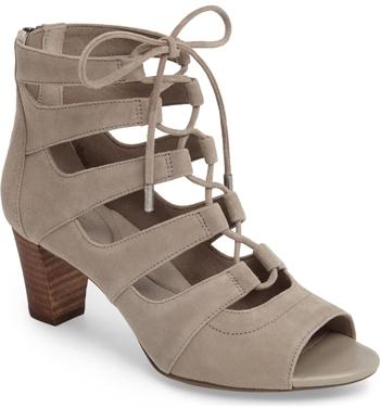 Comfortable heels - Rockport Cobb Hill 'Audrina Ghillie' sandal | 40plusstyle.com