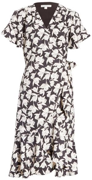 Joie floral print wrap dress | 40plusstyle.com