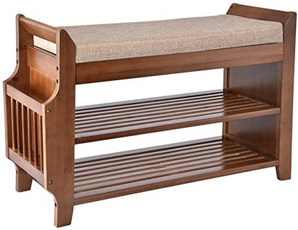 YUSING Bamboo Shoe Rack Bench | 40plusstyle.com