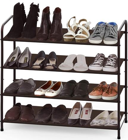 Simple Houseware 4-Tier Shoe Rack Storage Organizer | 40plusstyle.com