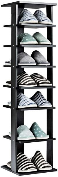 Tangkula Space Saving Vertical Shoe Rack | 40plusstyle.com