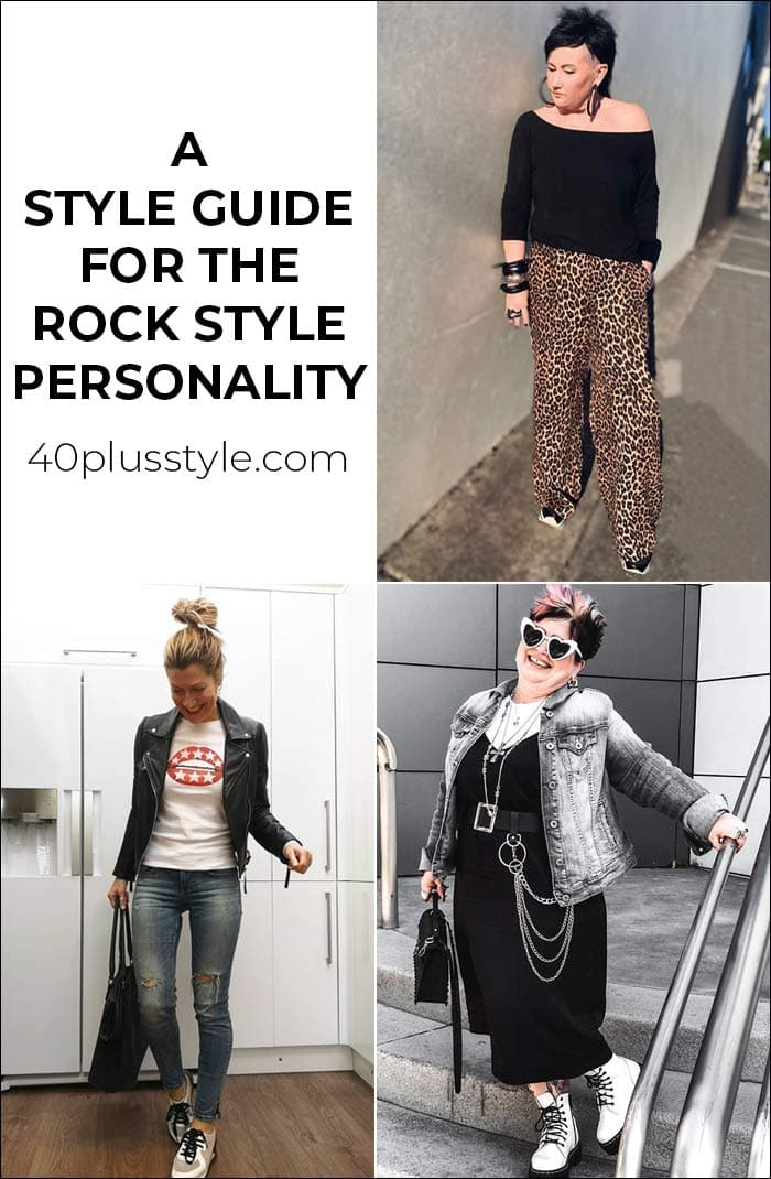 a capsule wardrobe and style guide for the ROCK style personality   40plusstyle.com