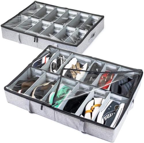 storageLAB Under Bed Shoe Storage Organizer | 40plusstyle.com