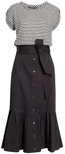 Veronica Beard capri midi t-shirt dress   40plusstyle.com