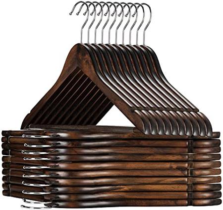 Clothes storage ideas - ZOBER wooden hangers | 40plusstyle.com