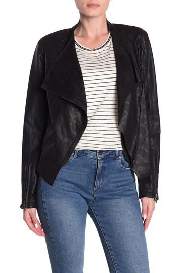 BLANKNYV drape front jacket   40plusstyle.com