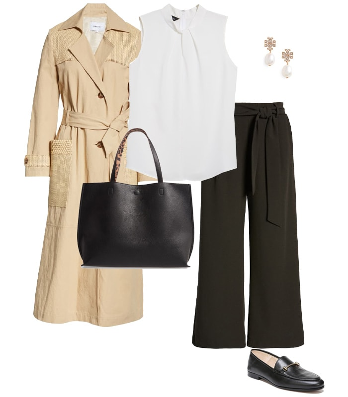 a classic outfit featuring loafers   40plusstyle.com