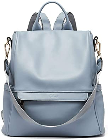CLUCI leather travel backpack | 40plusstyle.com