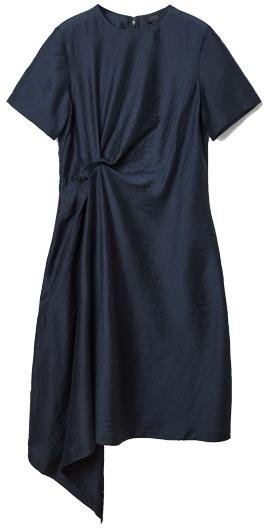 COS knot drape dress   40plusstyle.com