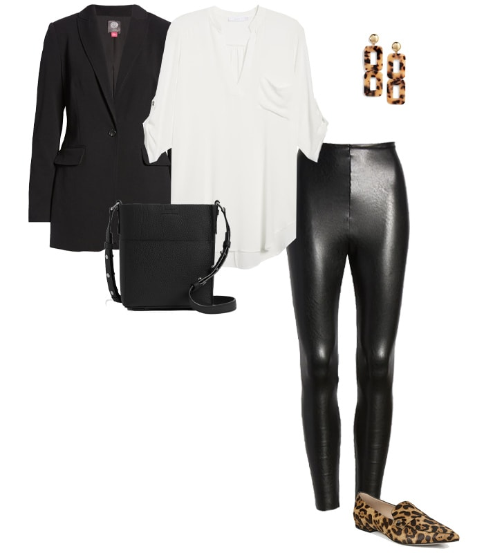 loafers with leather pants   40plusstyle.com