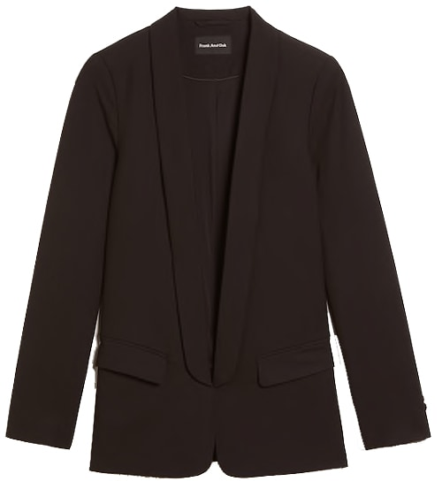 Frank and Oak packable blazer | 40plusstyle.com