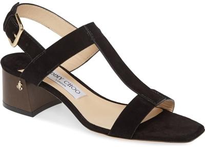 Jimmy Choo 'Jin' square toe sandal   40plusstyle.com