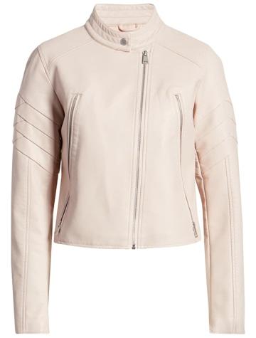 Levi's leather moto jacket   40plusstyle.com