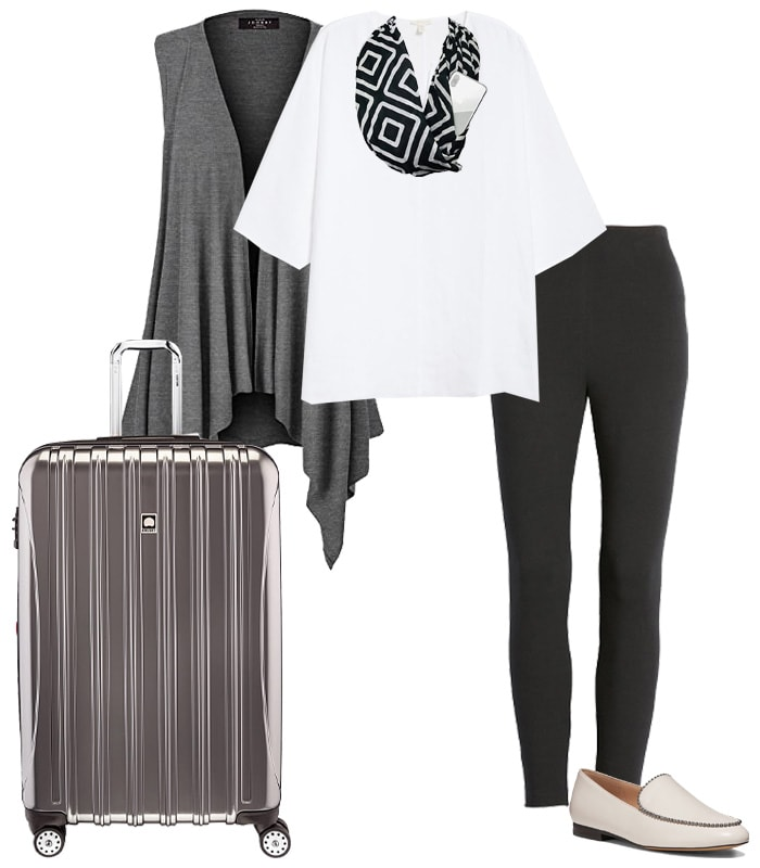 modern stylish travel wardrobe | 40plusstyle.com