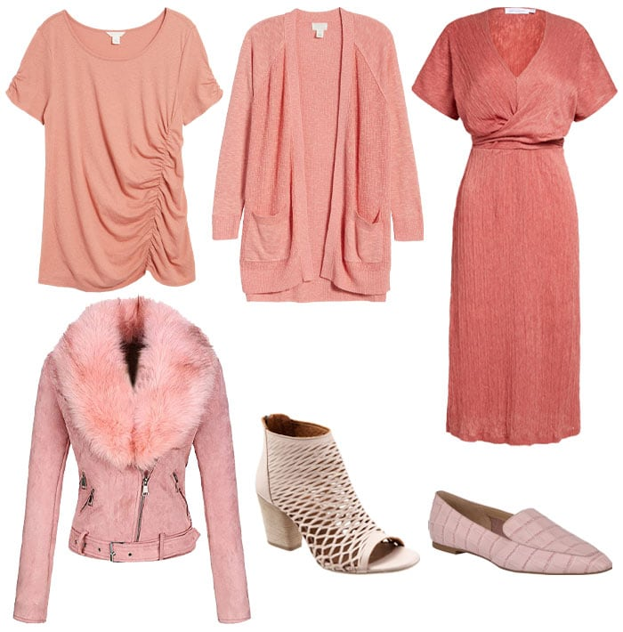 Textured pink clothes and accessories   40plusstyle.com