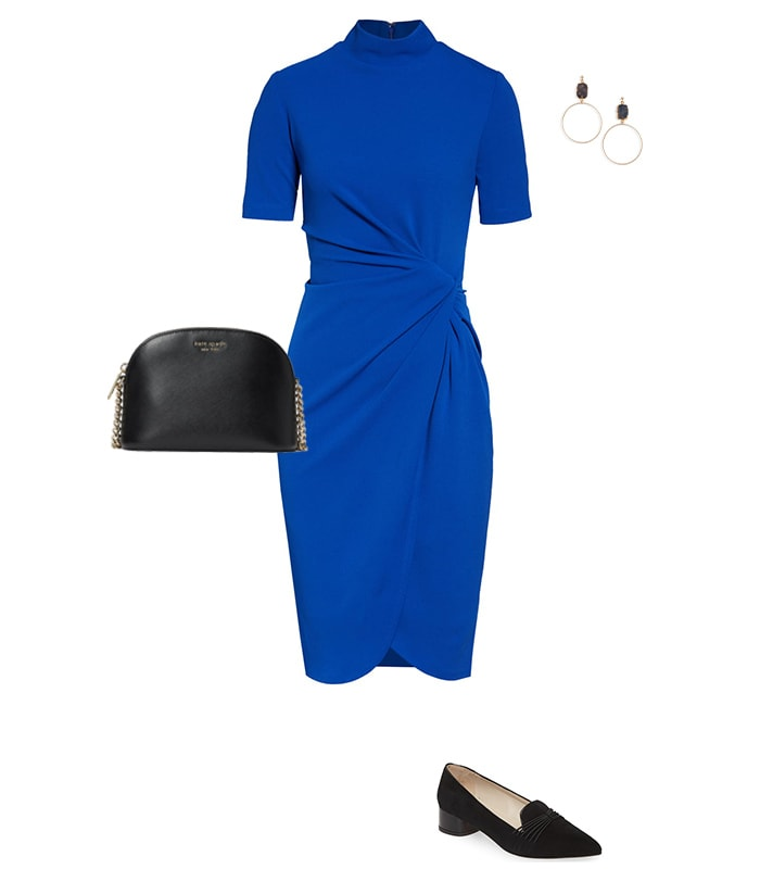 wearing loafers with a dress   40plusstyle.com