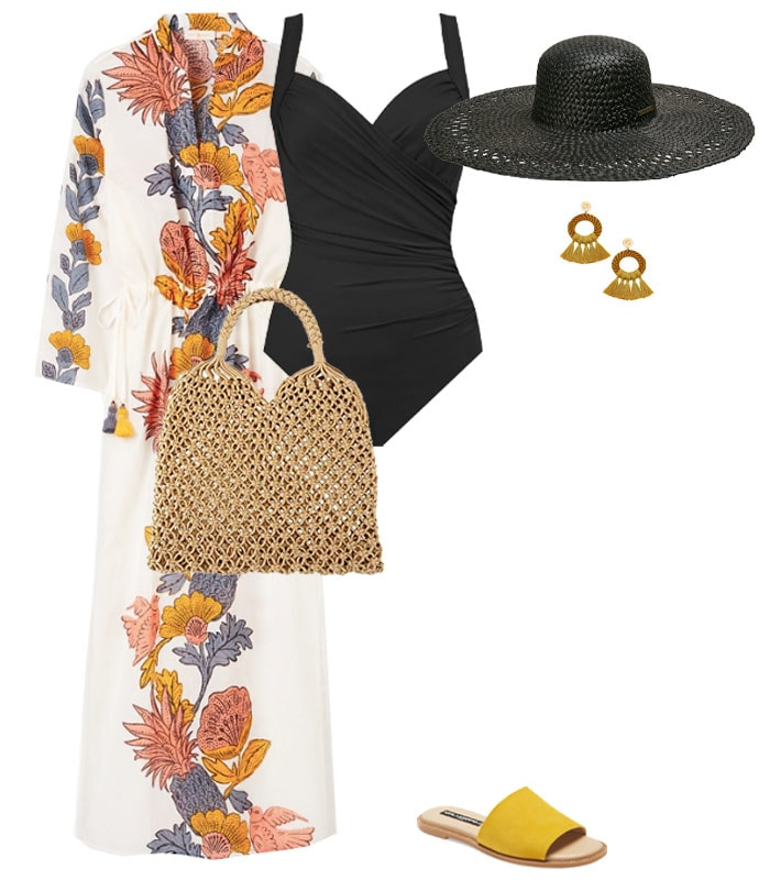 stylish ways to wear your beach cover up | 40plusstyle.com
