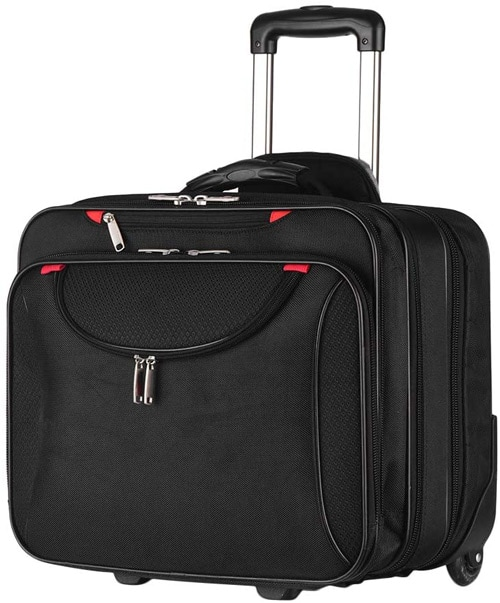 AirTraveler rolling briefcase to pack your conference attire into | 40plusstyle.com