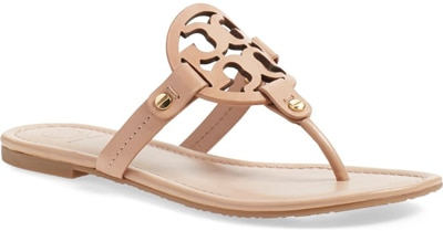shoes for women with big feet - Tory Burch 'Miller' flip flop | 40plusstyle.com