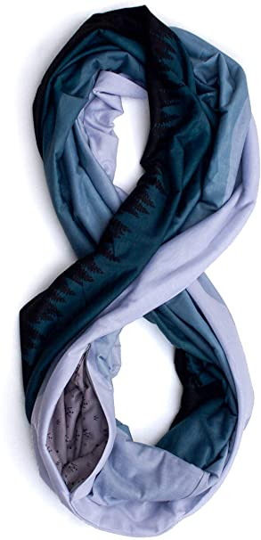WAYPOINT GOODS travel scarf with zipper pocket | 40plusstyle.com