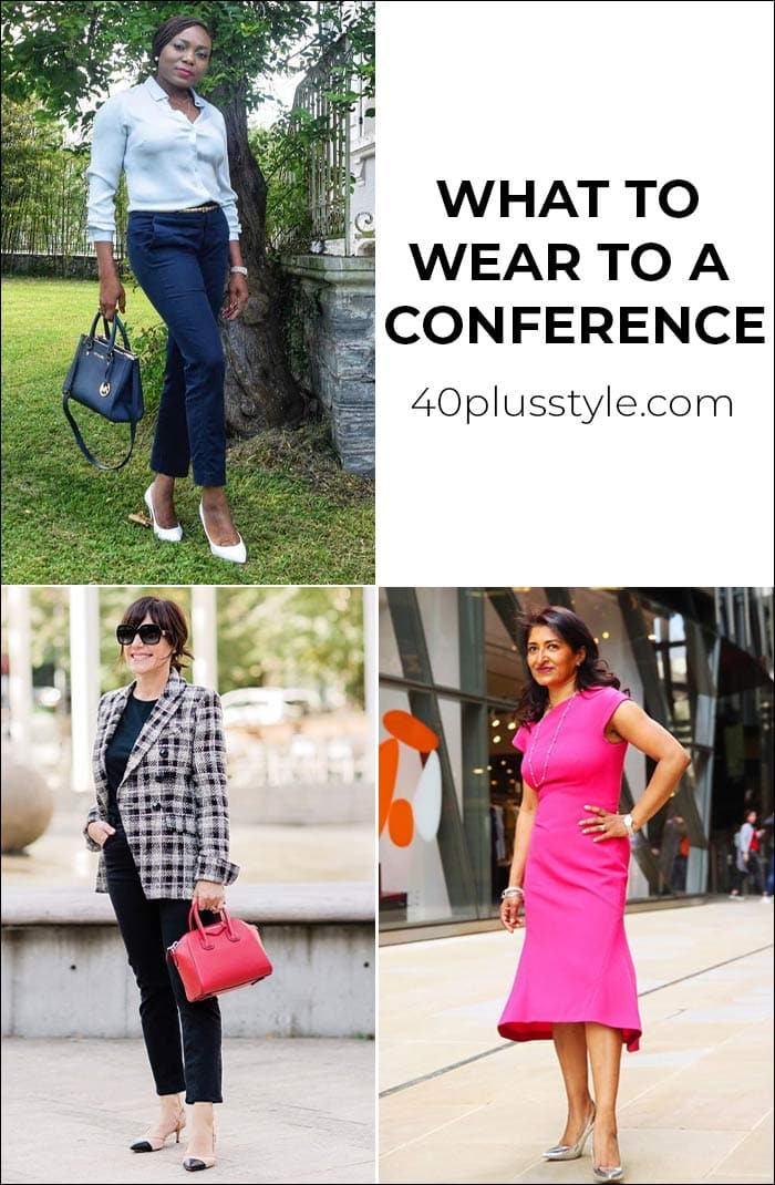 What to wear to a conference or presentation to look stylish AND professional | 40plusstyle.com
