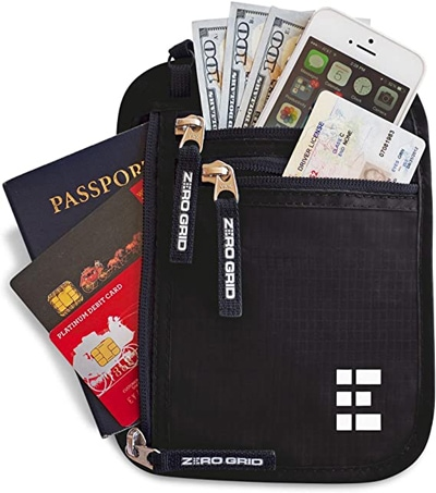 Zero Grid concealed travel pouch & passport holder with RFID blocking | 40plusstyle.com