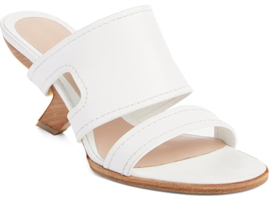 Alexander McQueen slide sandal | 40plusstyle.com