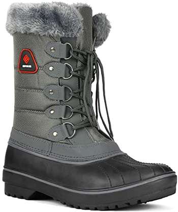 DREAM PAIRS faux fur lined winter snow boots | 40plusstyle.com