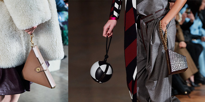 Fall handbags - geometric styles   40plusstyle.com