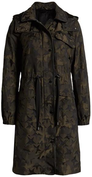 Avec Les Filles jacquard raincoat | 40plusstyle.com