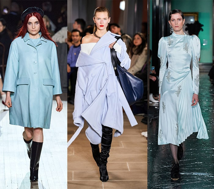 Fall clothing colors - baby blue | 40plusstyle.com