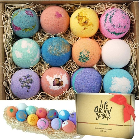 LifeAround2Angels bath bombs gift set | 40plusstyle.com