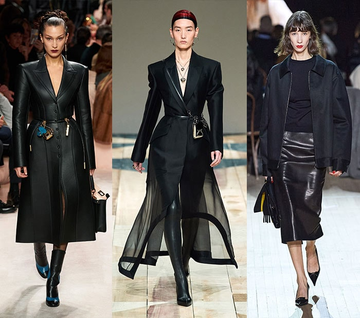black outfits seen on the fall 2020 catwalks | 40plusstyle.com