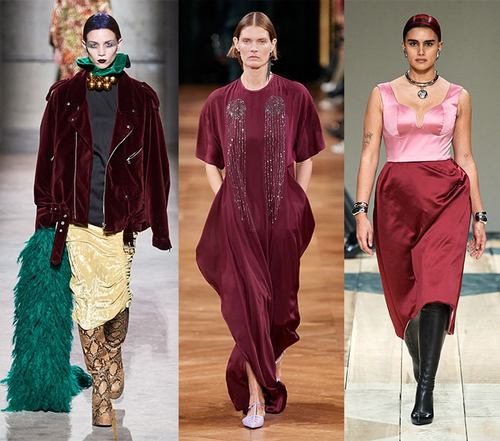 Fall clothing colors - Wearing burgundy for fall | 40plusstyle.com