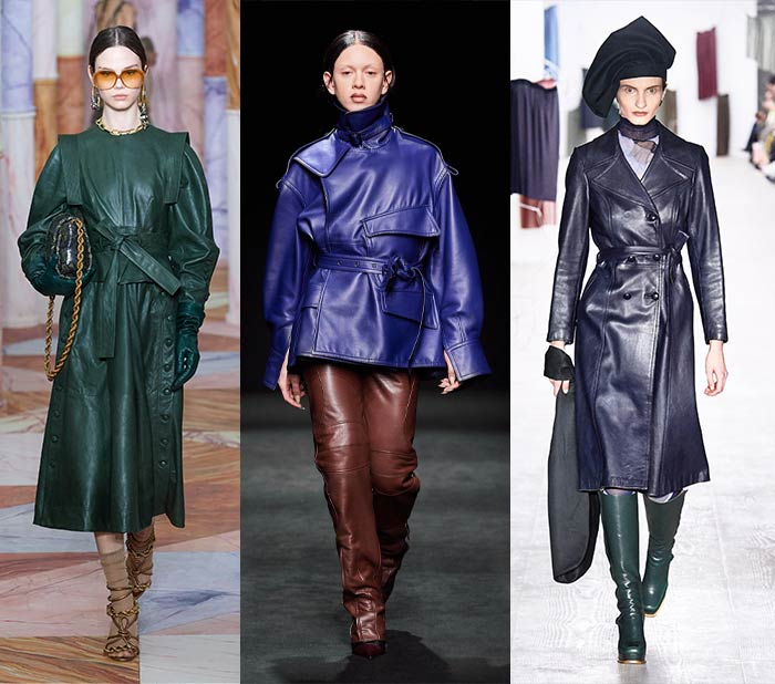 Colorful leather for fall 2020 | 40plusstyle.com