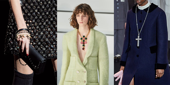 cross jewelry on the fall catwalks | 40plusstyle.com