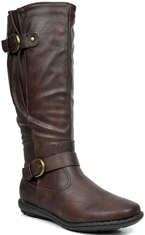 DREAM PAIRS knee high winter boot | 40plusstyle.com