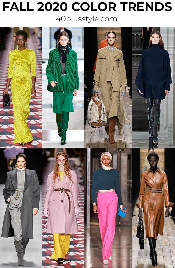 Fall clothing colors: 10 colors and 10 neutrals for you to wear from the Fall 2020 color trends | 40plusstyle.com